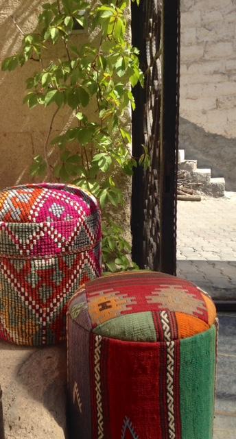 Turkish-Boho-vintage-Kilim Pouf
