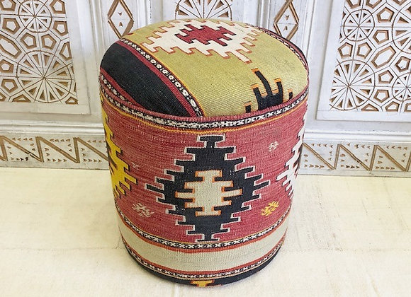 Vintage Kilim Pouf - Geometric Boho. Buy one of take the pair !