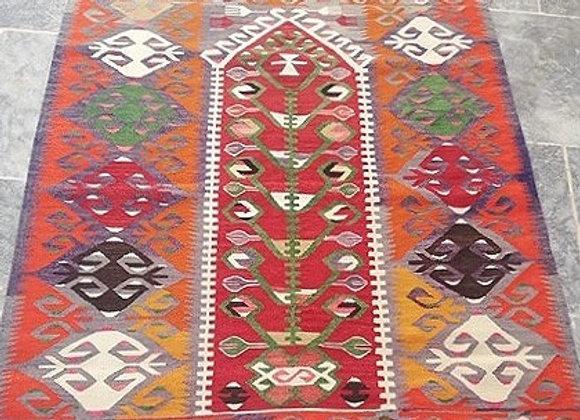 Vintage Turkish Esme Kilim                                ' Tangerine Dream '