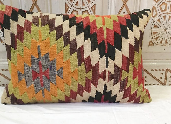 Vintage Kilim Pillow-       Large 65 x 43    'Multi Blaze'
