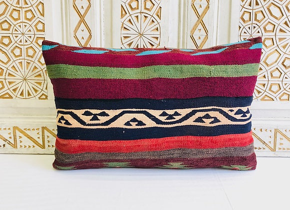 Vintage Turkish Kilim Pillow - Bed Pillow 65x43 cm