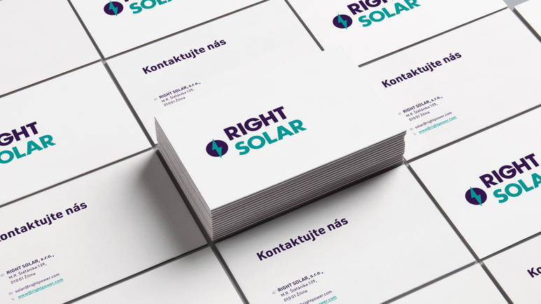 Right Solar - business cards