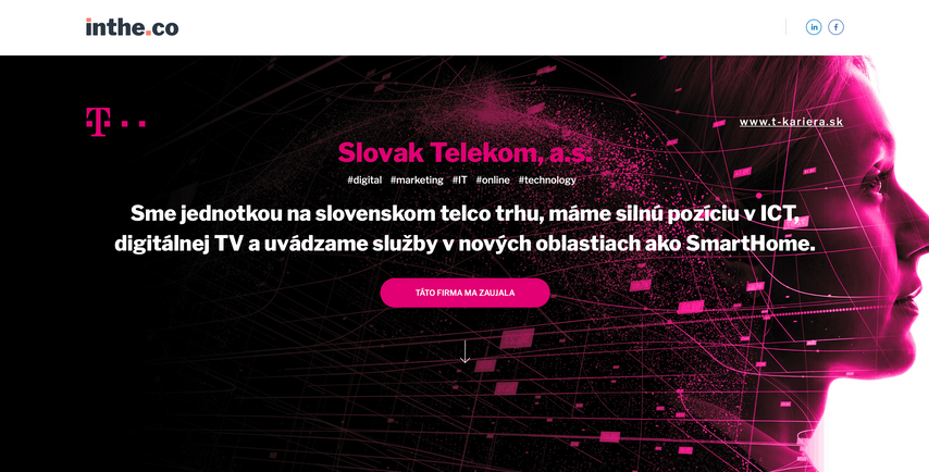 karierna web stranka Telekom