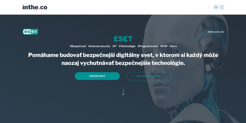 karierna web stranka ESET