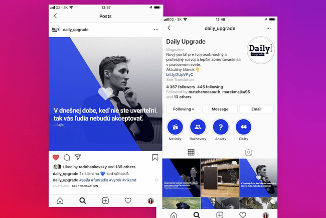Daily Upgrade - Instagram post templates