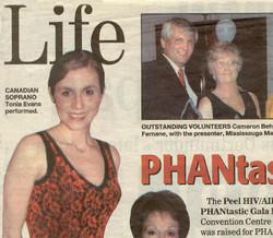 Performing at the 'PHANtastic' Gala