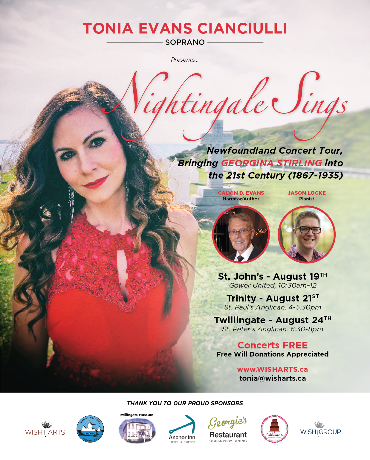 2018 Nightingale Concert Tour Poster