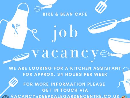 Bike & Bean Café Kitchen Assistant Vacancy