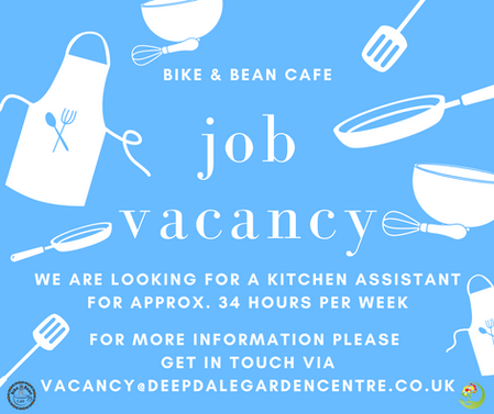 Bike & Bean Cafe Kitchen Assistant Vacan