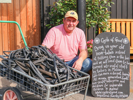 Cycle of Good Inner Tube Collection at Deepdale Garden Centre