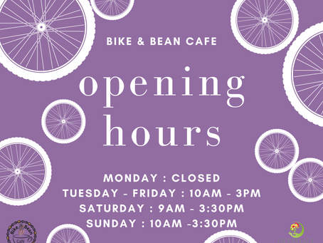 The Bike & Bean Café is Reopening!