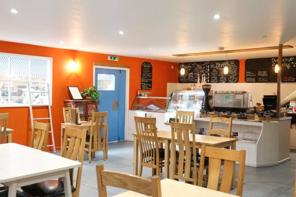The Bike & Bean Café at Deepdale Garden Centre
