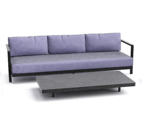 Alura Lounge Three Seater Black