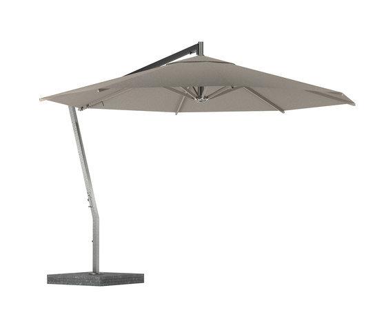 Shady X-Centric Umbrella Ø4MCoated ALU Ribs Cappuccino EL. POL.
