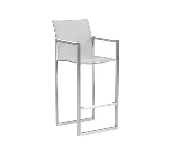 Ninix Chair With Inox EL. POL. And White Batyline