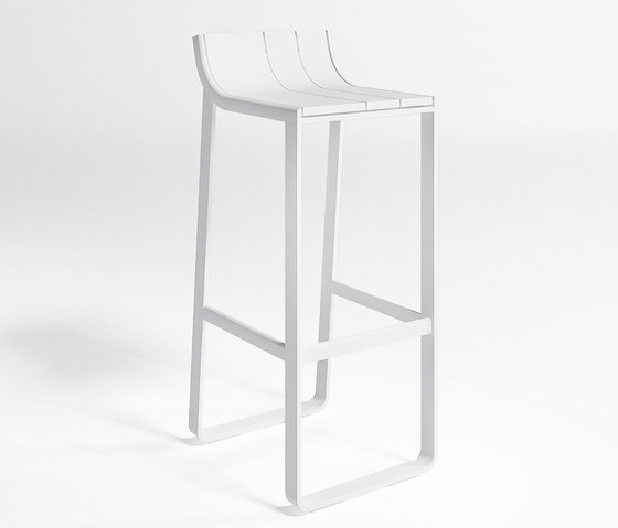 Flat Stool With Backrest