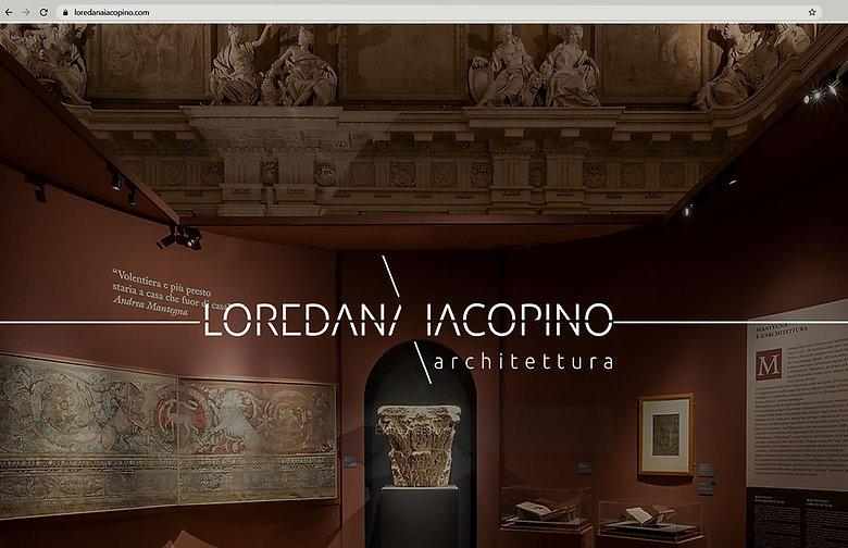 Loredana Iacopino Architettura: web design, home page. Realizzato da Euforia Creative Hub