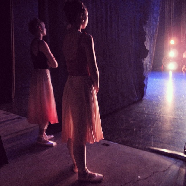 Beautiful _qldballet dancers _sophierosezoricic and Neneka watching side stage in their #linadancewe