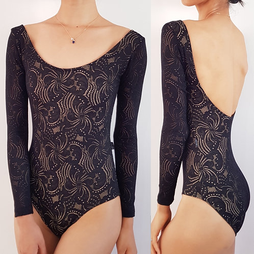 Lace Overlay Scoop Neck