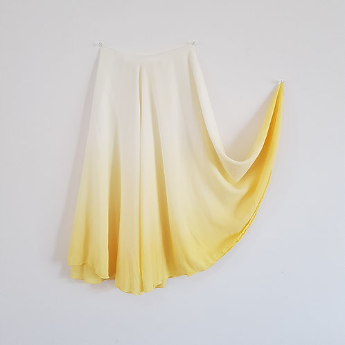 Hand Dipdye Skirt Lemon
