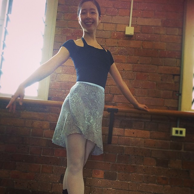 Instagram - Cute Neneka wearing the Long Wrap Skirt in Blue Paisley! #linadancewear #handmade #balle
