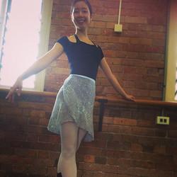 Instagram - Cute Neneka wearing the Long Wrap Skirt in Blue Paisley! #linadancewear #handmade #balle