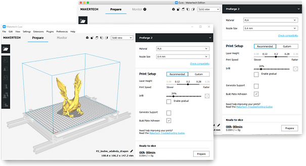 Maketech Cura screenshot screen grab