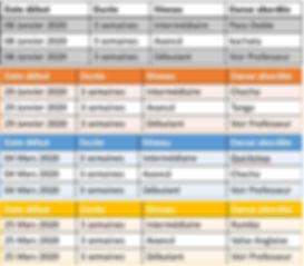 Nouveau Planning des cours 2019-2020 (Pa