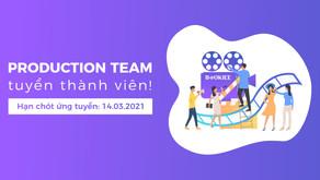 Production Team Tuyển Thành Viên