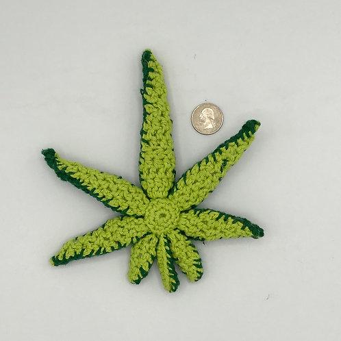 Cannabis Leaf Crocheted plush/stuffed
