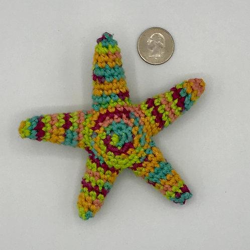 Crocheted starfish toy/chewie