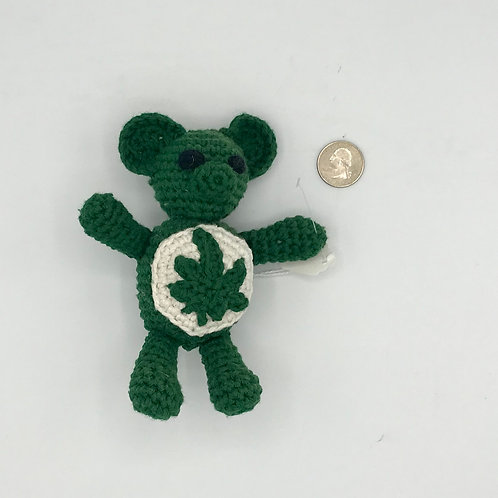 Grateful Cannabear Crocheted Plush