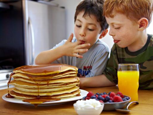 House Pancake Mix With Hazlenut Maple Syrup