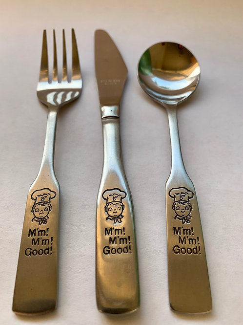 Campbell's Soup Fork Knife and Spoon