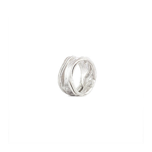 Anillo crushed en plata