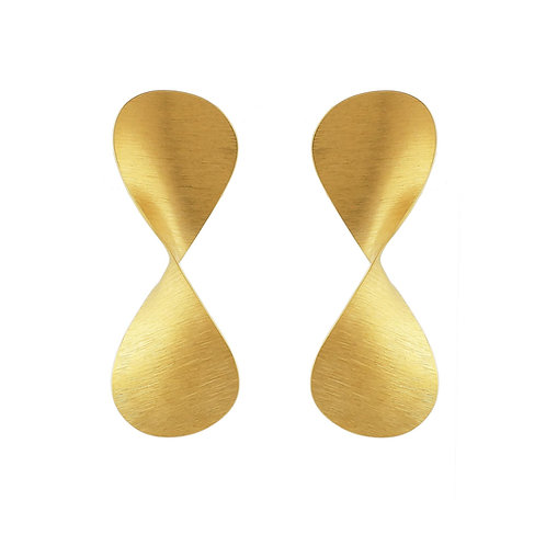 Aretes Serpentina con chapa de oro