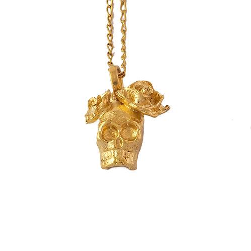 Collar catrina chapa de oro