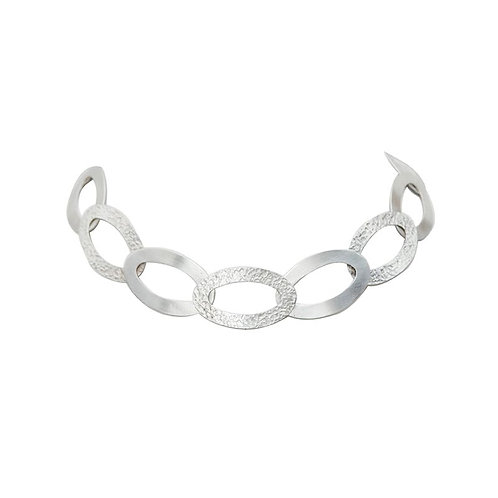 Gargantilla de eslabones de plata .925 por DAM Joyeria   Sterling Silver chain link choker