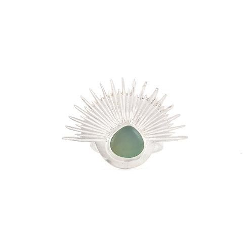 Anillo de Onix Verde en plata .925