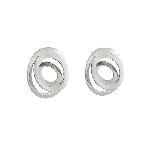 Aretes Espiral mini plata .925