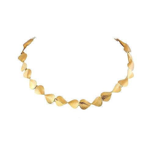 Gargantilla Serpentina con chapa de oro