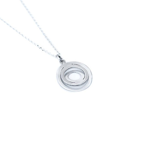 Collar de Circulos Chicos en plata .925 por DAM Joyeria | Sterling Silver Small Circle Pendant Necklace