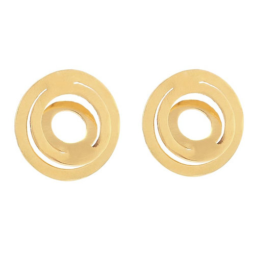 Aretes Espiral con chapa de oro