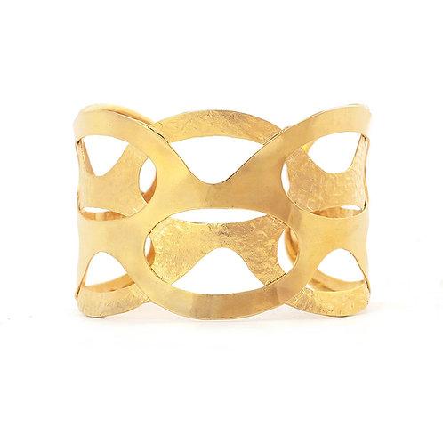 Brazalete Eslabones con chapa de oro | Gold plated link cuff bracelet