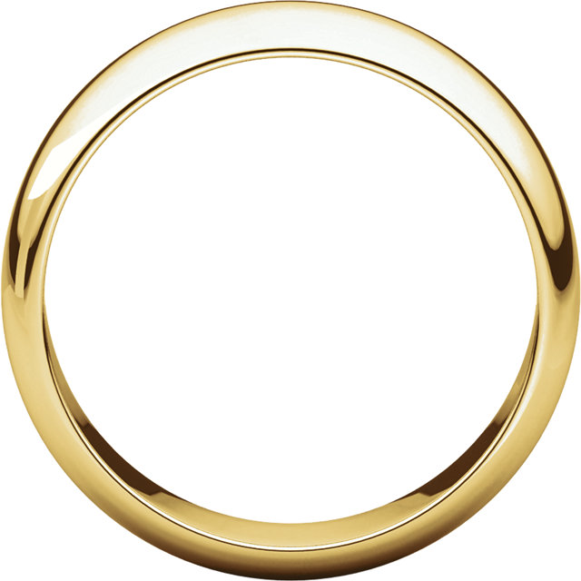 Half Round Men's Band Yellow Gold through view