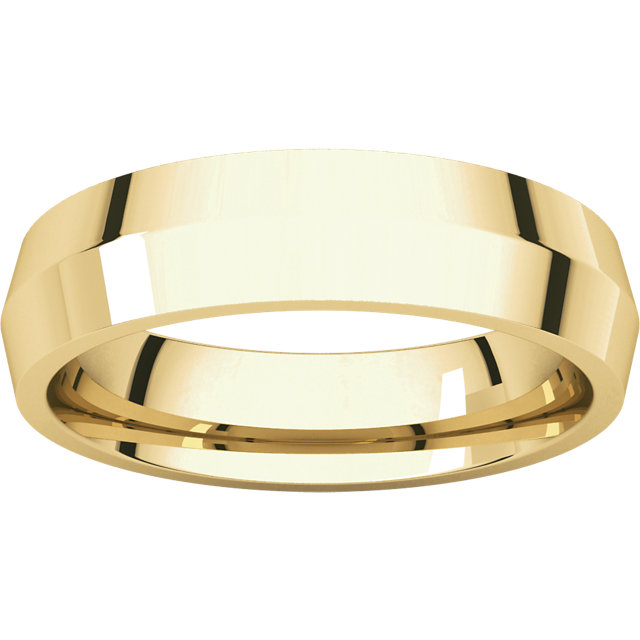 Knife Edge Yellow Gold Men's Band alternated view
