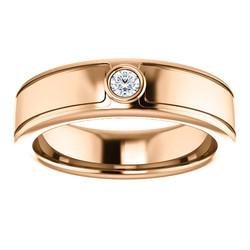 Solitaire 3mm Round Diamond .10 CTW Rose Gold alternate view - 123478