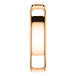 Solitaire 3mm Round Diamond .10 CTW Rose Gold aide view - 123478