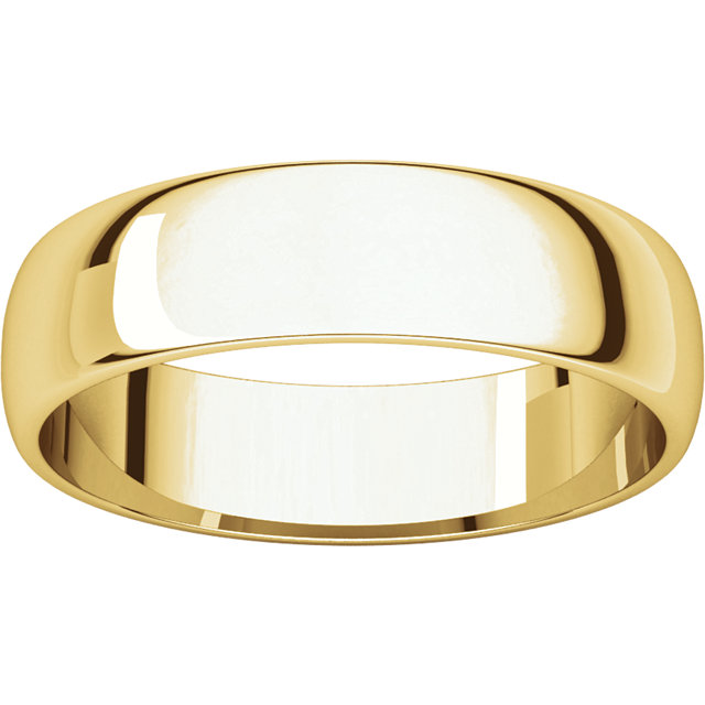 Half Round Light Men's Band Yellow Gold alternate view