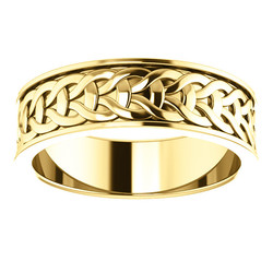 Yellow Gold 7mm Woven Design alternate view - 51862